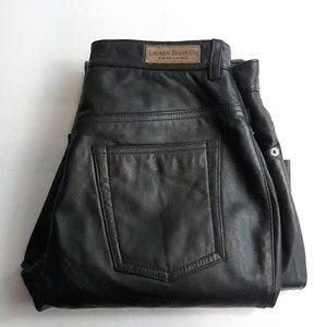 Ralph Lauren black leather pants